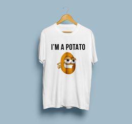 $enCountryForm.capitalKeyWord Australia - I Am A Potato Funny Short Sleeve Printed T-Shirt Tumblr Unique TShirt Potato Tee jersey Print t-shirt