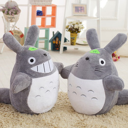 old movie decorations UK - 50CM Famous Cartoon Totoro Plush Toys Smiling Soft Stuffed Toys High Quality Dolls Factory Price home decoration gift