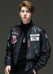 $enCountryForm.capitalKeyWord Australia - PU Stand Collar Mens Jackets Winter Motorcycle Loose Mens Designer Leather Coats Fashion Long Sleeve Male Clothing