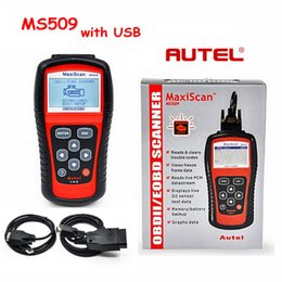 $enCountryForm.capitalKeyWord Australia - Autel MaxiScan MS509 OBD Scan Tool OBD2 Scanner Code Reader Auto Scanner With two Cables