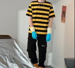 $enCountryForm.capitalKeyWord Australia - Men's new popular logo t shirt 2019 spring summer loose stripe short sleeve versatile casual cotton T-shirt men