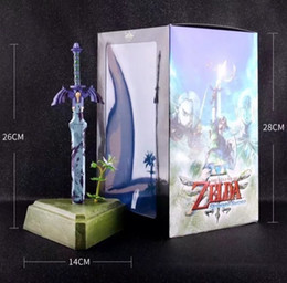 Zelda Link Figure Australia - Jhacg 26cm The Legend Of Zelda Skyward Sword Link Master Sword Action Figure Toys Doll Christmas Gift With Box Y190604
