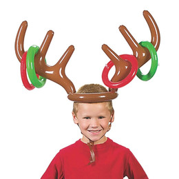 $enCountryForm.capitalKeyWord Australia - Christmas Inflatable Deer Head Ring Throwing Ring Toy Children Outdoor Leisure Sports Christmas Decoration Gifts Toy Game Props