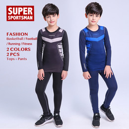 fe9b129df8 Kids Boys Basketball Jogging Suits for Men Training Sportswear Football  Tights Children Fitness Gym Clothing Sports Wear Clothes
