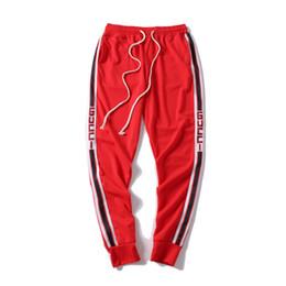 2019 Nuevos Pantalones de Hombre Pantalones de chándal de diseñador Pantalones de chándal de marca de moda Ropa de chándal de raya lateral Pantalones de los hombres Marca Pantalones deportivos de chándal en venta