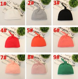 Free Crochet Beanie For Baby Australia - 14 Colors Hot Sale Baby Beanie Hat Top Knot Stretchy Soft Newborn Accessoriess Caps for Boy or Girl Pure Color Free shipping BY0713