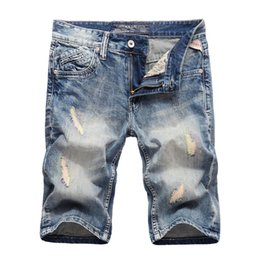 $enCountryForm.capitalKeyWord Australia - Summer Fashion Mens Jeans Shorts High Quality Ripped Jeans For Men Denim Shorts Brand Street Youth Casual Beach Men