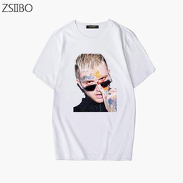 Moda caráter 3d Imprimir Rapper Lil Peep T Shirt mens Rap Hiphop LilPeep legal do t-shirt tendência Streetwear de gráfico T Tops Hip Hop