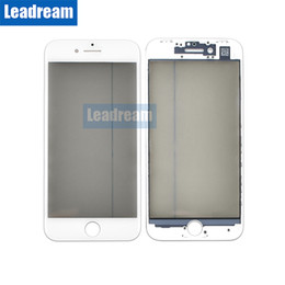 Iphone Front Screen Oem NZ - 100 PCS OEM Front Outer Glass Touch Screen Glass Lens with Frame for iPhone 8 Plus free DHL