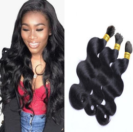 Discount brazilian crochet braiding hair - Malaysian Body Wave Hair Bulk No Weft Crochet Hair Bulk for Braiding 8a Unprocessed Cheap Bulk Hair