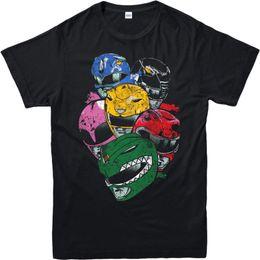 Chinese  Power Rangers T-Shirt, Superhero All Rangers Helmets Unisex Adult & kids Tee Top manufacturers
