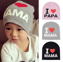5242ef68903 New Unisex Baby Boy Girl Toddler Infant Children Cotton Soft Cute Hat Cap  Winter Star Hats Baby Beanies Accessories I Love Papa Mama
