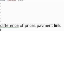 difference of prices payment link on Sale