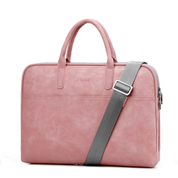 laptop 14 inch notebook Australia - Fashion PU Leather Laptop bags for women 14 15 15.6 17.3 inch for macbook air 13 inch casual portable waterproof Notebook bag SH190924