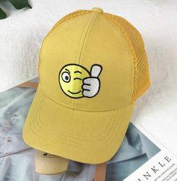 $enCountryForm.capitalKeyWord Australia - Yellow Children's Baseball Cap Boy's Spring And Summer Girl's Duck Tongue Cap Baby's Sun Hat Breathable Thin Sunshade Net Hat