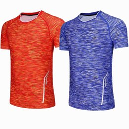 $enCountryForm.capitalKeyWord UK - 2018 Gym Sportswear Dry Fit Badminton T-shirts for Women Table Tennis Running T Shirt Men Exercise Training Blue red T Shirts