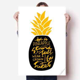 $enCountryForm.capitalKeyWord UK - DIYthinker Be a Sweet Pineapple Yellow Quote Vinyl Wall Sticker Poster Mural Wallpaper Room Decal 80X55cm