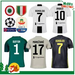 58796cee6 18 19 Juventus RONALDO DYBALA HIGUAIN POGBA soccer jersey 2018 2019 Player  version Italy juve MARCHISIO MANDZUKIC BUFFON home away man shirt