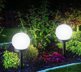 solar led floor lamps Canada - LED ground garden light solar ball automatic waterproof garden outdoor courtyard lawn floor lamp
