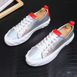 $enCountryForm.capitalKeyWord Australia - Fashion Men dazzling silver Causal flats platform Shoes Loafers Moccasins Male designer shoe Sapato