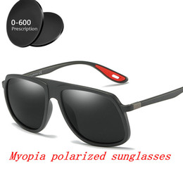 4675be3ab4b Square prescription Myopia Polarized Sunglasses Men Minus Degree Coating  Black Fishing Driving Eyewear Male sunglasses UV400 FML