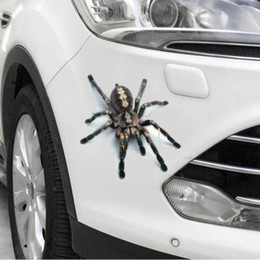 $enCountryForm.capitalKeyWord Australia - Stickers Funny 3D Cartoon Colorful Frogs Spider Feather Car Stickers Decal Vinyl Cover Body Scratched Car Styling Motorcycle Accessories