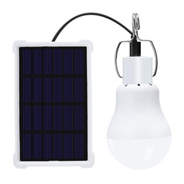 Bulb Case Australia - New Version Portable Solar Light 1.2W Solar Powered Energy Garden Lamp Bulb for Outdoor Camping Tent Light with Waterproof Case