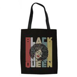 ac52219df THIKIN Tote Ladies Casua Black Art African Girls Printing Ladies Large  Capacity Female Shopping Bag Women Canvas Shoulder Bag