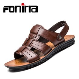 $enCountryForm.capitalKeyWord NZ - FONIRRA New Men's Big Size Sandals Men High Quality Genuine Leather Beach Shoes Cool Slippers Men Casual Shoes Flats 2019 515