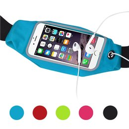H Case Australia - Touch Sensitive Waterproof Waistband Pouch Bag Case Running GYM Sport Arm band for Iphone 6 6s 7 8 Plus X Phone Cases Cover #H #772626