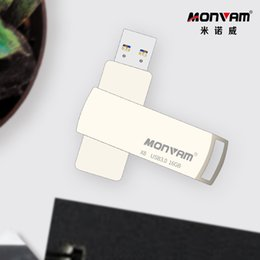 $enCountryForm.capitalKeyWord Australia - High Quality Full Capacity Usb Flash Drives For MONVAM X8 Silver Metal Rectangle Rotating Usb 3.0 Flash Memory Stick Pen Drive Disk