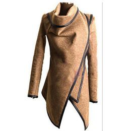S Scarf NZ - 2018 Women Irregular Long Cashmere Overcoats Jacket scarf collar solid Coat Female Warm Long Sleeve Overcoat NQ901663