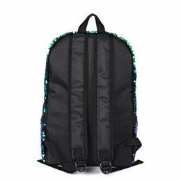 Glitter Pom NZ - Unisex Backpack Boys Girls Fashion Glitter Sequins Backpack Large Capacity Solid Color Travel Bag Schoolbag Packs