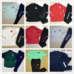 Wholesale xxxl tracksuit for sale – custom Spain tracksuit Men football training Argentina Wales Belgium tracksuit soccer training survetement de foot chandal jogg S XXXL