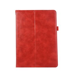 Waterproof Tablet China UK - half Genuine Leather Tablet case for iPad 5 6 Air Air2 pro 9.7 shockproof pu leather tablet case