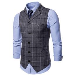 $enCountryForm.capitalKeyWord Australia - Dress Vests For Men Thick Single-breasted Suit Vest Male E-strip Men's Business Vest Waistcoat Men Gilet Homme Vests For