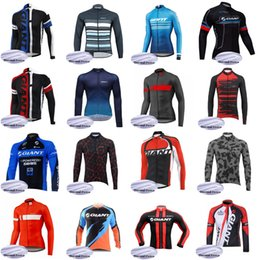 team uniforms clothes Canada - GIANT Team Cycling jerseys Winter Cycling Jersey MTB Uniform Bike Clothing Men Ropa Ciclismo Thermal Fleece B617-58