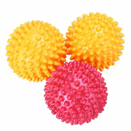 $enCountryForm.capitalKeyWord Australia - Wholesale- 8.5cm PVC Spiky Massage Ball Yoga Ball Fitness Gym Hand Foot Body Pain Stress Massager Relief Trigger Point Health Care