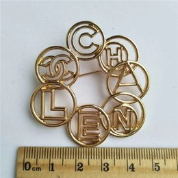 AnniversAry dresses online shopping - High quality Letter Lady Brooches Alloy Fashion Brooches Pins for Dress man and Women Fashion Acessories Jewlery Accessories
