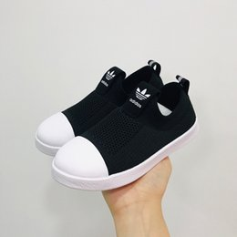 $enCountryForm.capitalKeyWord Australia - New Designer AD Knit Shell Head Soft Children's Sports Shoes Big Kids Casual Running Shoes Baby Boys Girls Toddler Athletic Sneakers Trainer