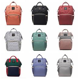 3a075e5615eb0 Nursing Bag Mummy Maternity Nappy Brand Large Capacity Baby Bag Travel Backpack  Designer fashion diaper bags 17 styles
