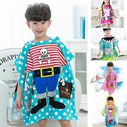 3d2e950901 8 styles Mermaid bathrobe Kids Robes cartoon animal shark Nightgown  Children Towel Hooded bathrobes MMA1386