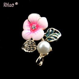 $enCountryForm.capitalKeyWord UK - Small Size Mini Blue pink Enamel pins crystal Flower Brooches for Women Men Suit Corsage Girls Dress Coat jewelry buckles