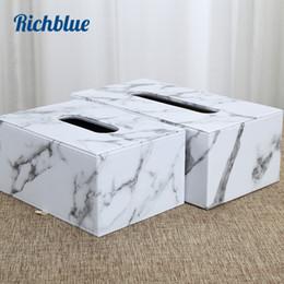 $enCountryForm.capitalKeyWord Australia - New Arrival! Marble Grain PU leather Tissue Box Elegant Royal Car Home Napkin Towel Tissue Holder S L size Dispenser case
