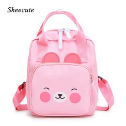 $enCountryForm.capitalKeyWord Australia - Children School Bags Cute Cartoon Yellow Duck Pink Kindergarten School Bag Boys and Girls Baby Backpack Kids Bags