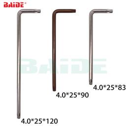 Venta al por mayor de Venta al por mayor de buena calidad 4.0mm Torx T15 T20 L llave con agujero 45 # S2 destornillador de acero mantener herramientas