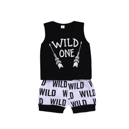 toddlers boys outfit NZ - Newborn Baby Boys Clothing Toddler Vesr+Shorts 2PCS set Wild One Outfit Infant Boutique Casual Clothes Kids Costume Summer Children Clothing