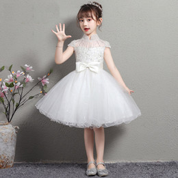 infant lace shirts Australia - 2020 Vintage Flower Girls' Dresses Ivory Baby Infant Toddler Baptism Clothes first holy communion Lace Tutu Ball Gowns Birthday Party Dress