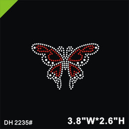 89ad7ded5 Free shipping Butterfly Heat Transfer Design Iron On Garment Custom Design  For Wholesales And Retail Rhinestone motif DIY DH235#