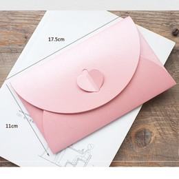 Colored Paper Envelopes Australia - 10PCS LOT Colored Buckle Kraft Paper Envelopes Simple Love Retro Buckle Decorative Envelope Small Paper Envelope Wholesale